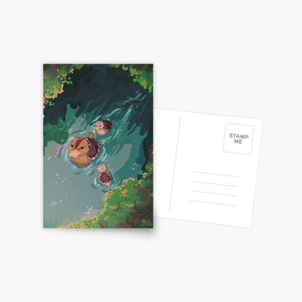 tortue canard étang avatar le dernier maître de l'air Carte postale
