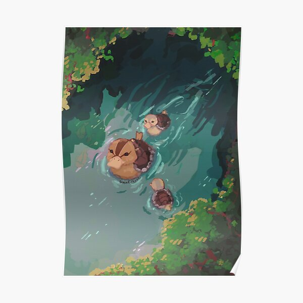 turtle duck pond avatar the last airbender Poster
