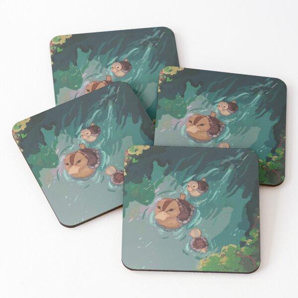 turtle duck pond avatar the last airbender Coasters (Set of 4)