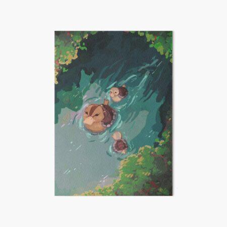 turtle duck pond avatar the last airbender Art Board Print