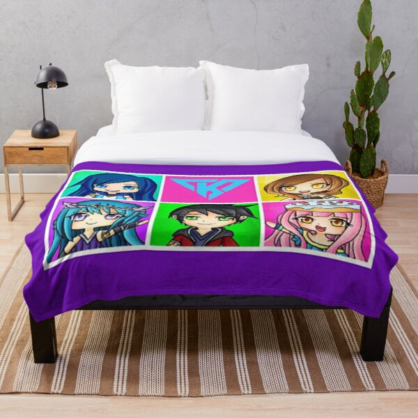 Funneh and the Krew Anime Style Throw Blankets Throw Blanket