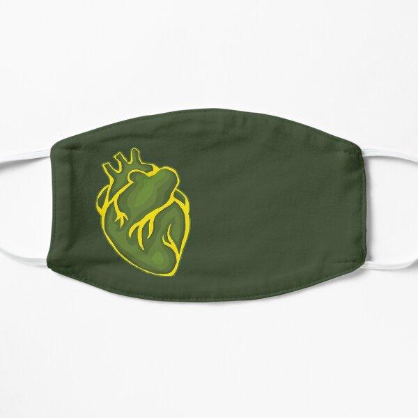 Heart: Green/Yellow Variant Flat Mask