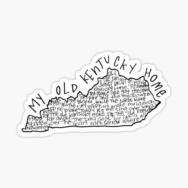 My Kentucky Home Sticker