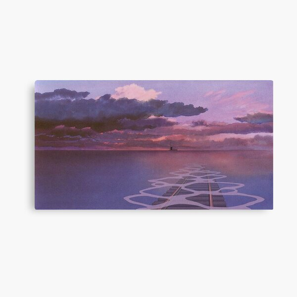 Esthétique nocturne de chemin de fer Spirited Away Impression sur toile