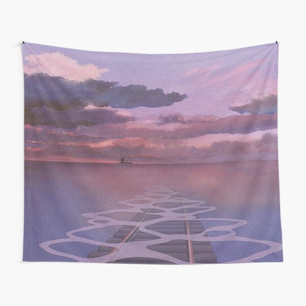 Spirited Away Railroad Nighttime Aesthetic Tapestry