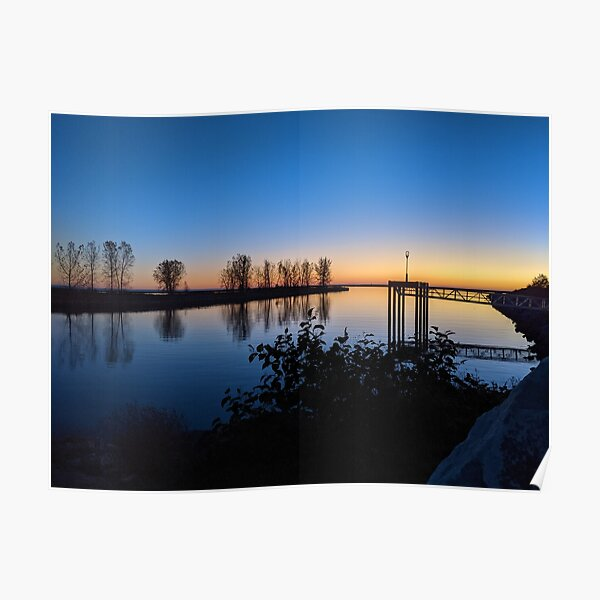 Pointe Paddle Sunset Poster