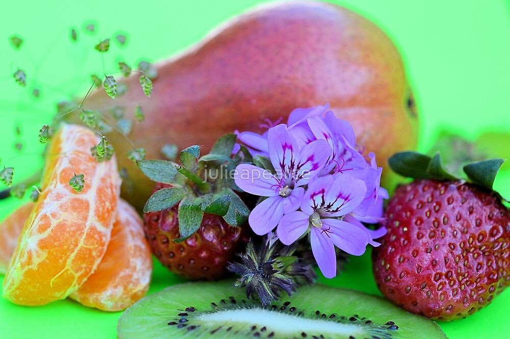 Fruit and Flowers by julieapearce