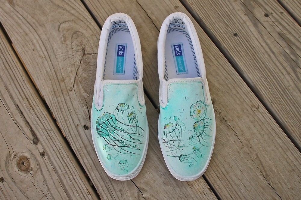 A Swarm Of Jellies (Painted Shoes) by SharksEatMeat