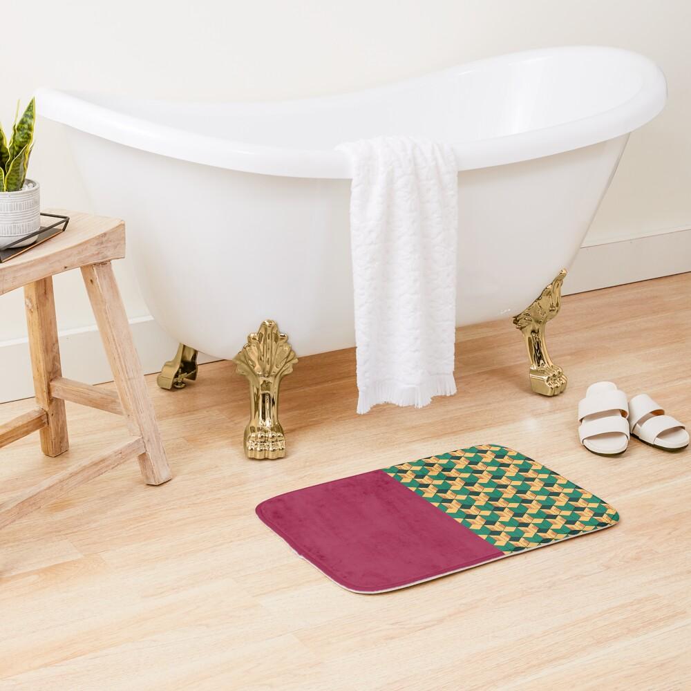 Tomioka pattern Bath Mat