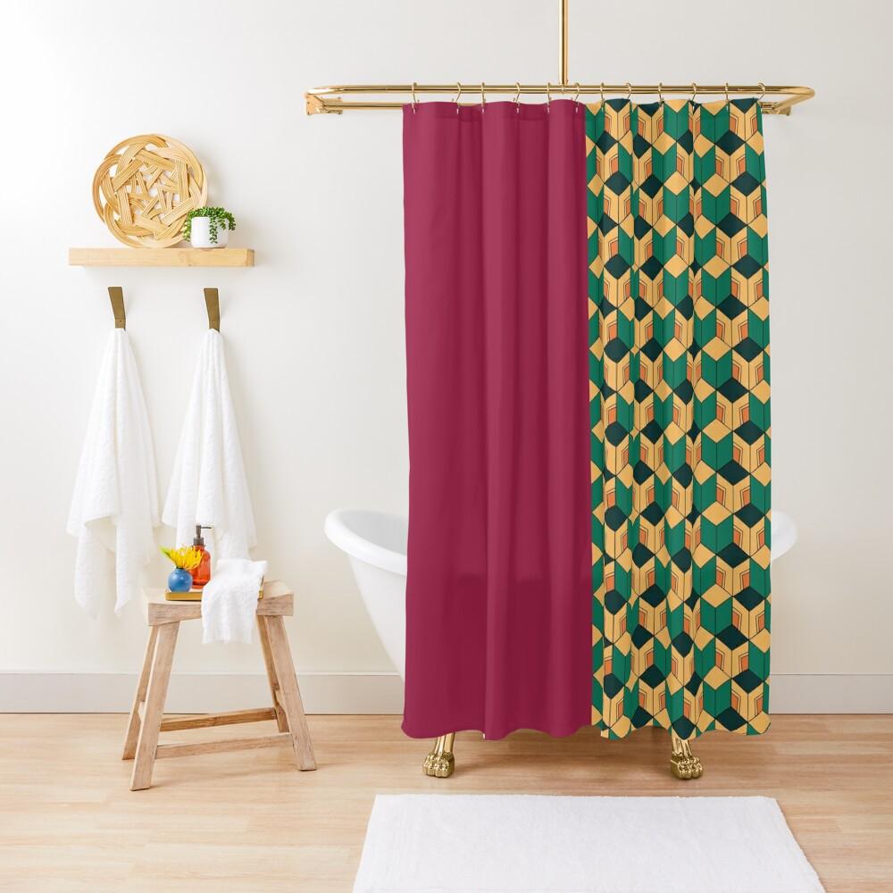 Tomioka pattern Shower Curtain
