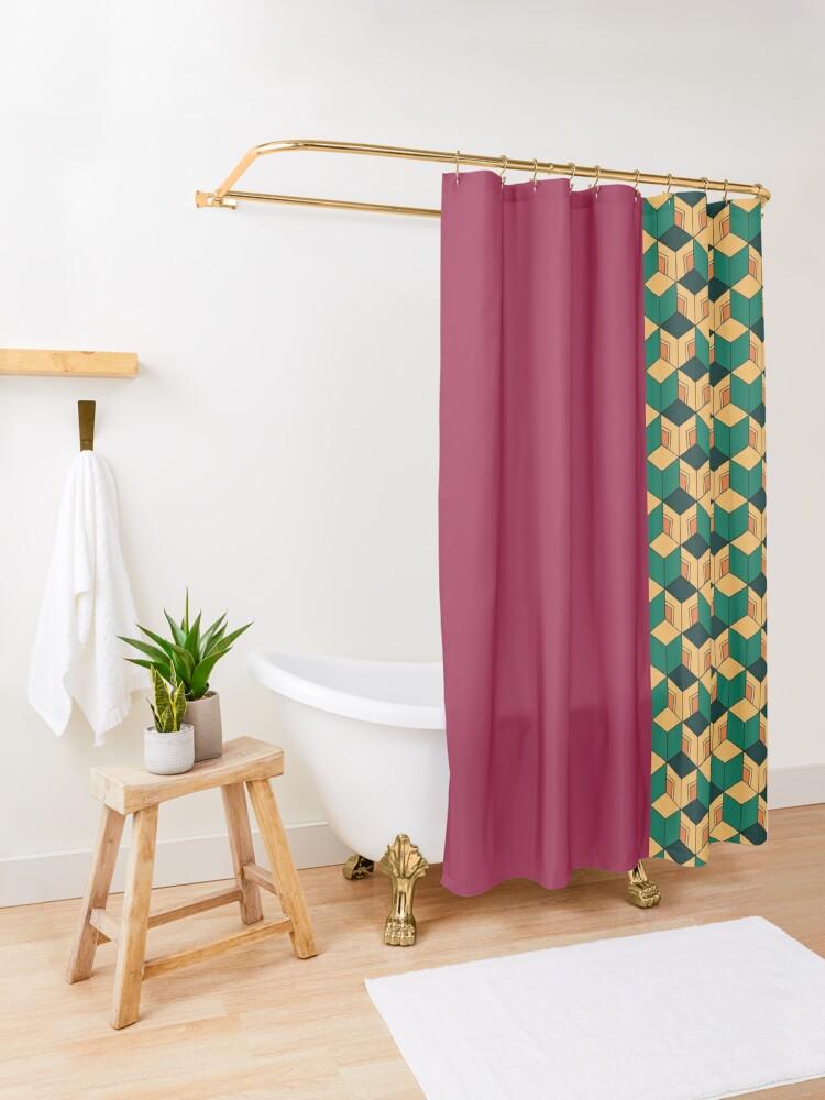 Alternate view of Tomioka pattern Shower Curtain