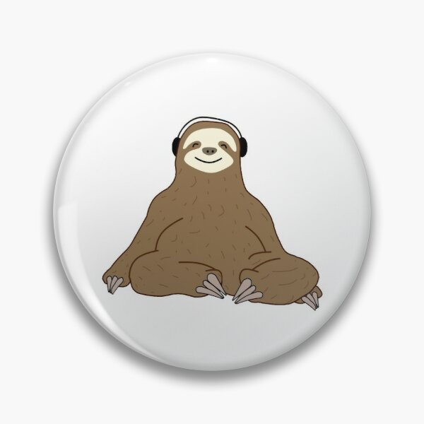 Sloth and Music Lovers Pin
