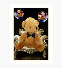 (✿◠‿◠) BEARY BUBBLY THOUGHTS (✿◠‿◠) Art Print