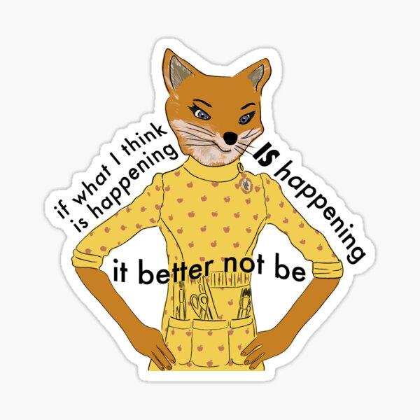 Mrs. Fox Sticker