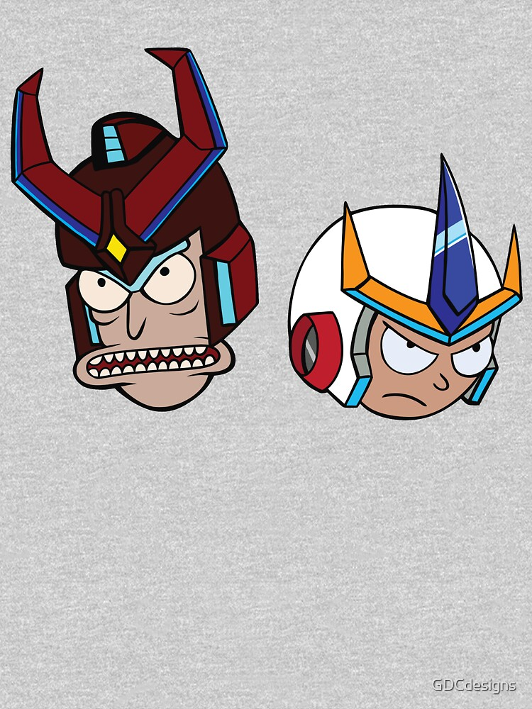 Super Cool Rick and Morty™ Heads with Combat Armour Helmet  by GDCdesigns