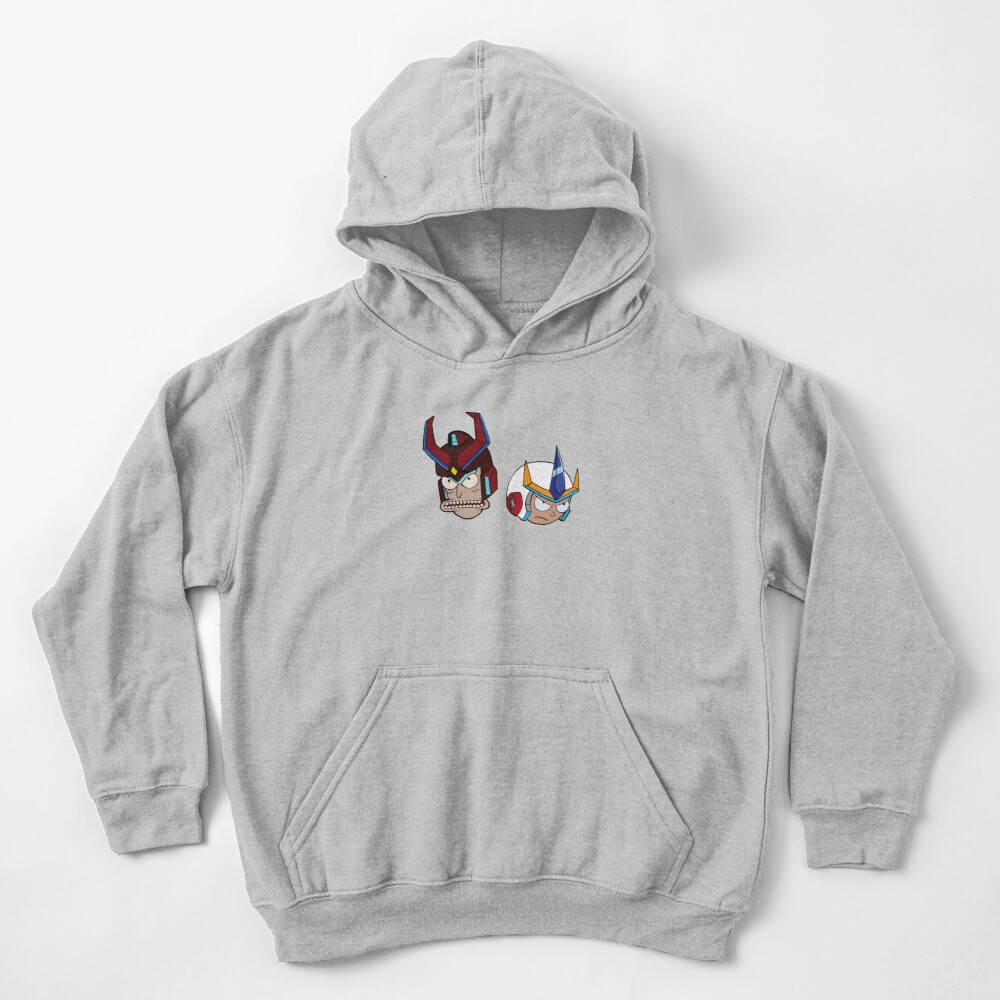 Super Cool Rick and Morty™ Heads with Combat Armour Helmet  Kids Pullover Hoodie