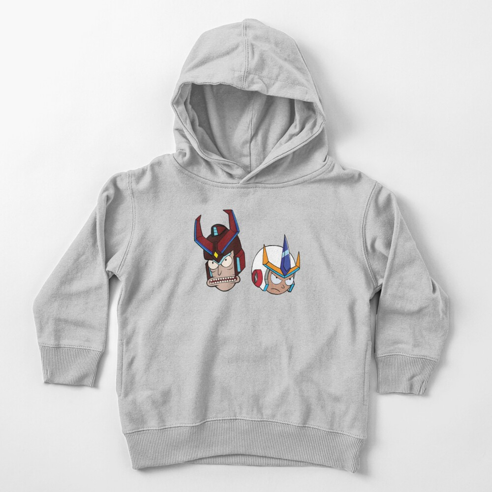Super Cool Rick and Morty™ Heads with Combat Armour Helmet  Toddler Pullover Hoodie