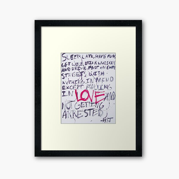 Hunter S. Thompson Quote Framed Art Print