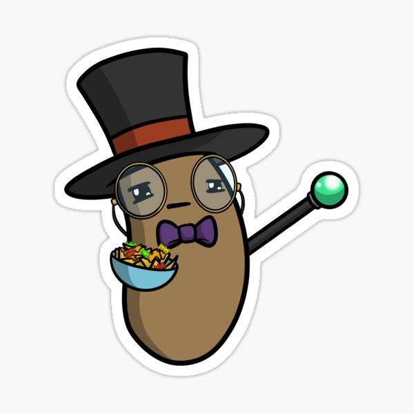 Height of Fancy Logan the Potato Sticker