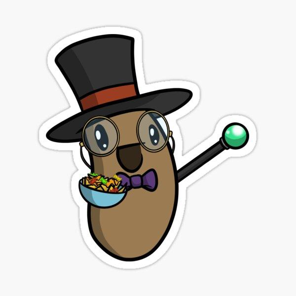 Height of Fancy Logan the Happy Potato Sticker