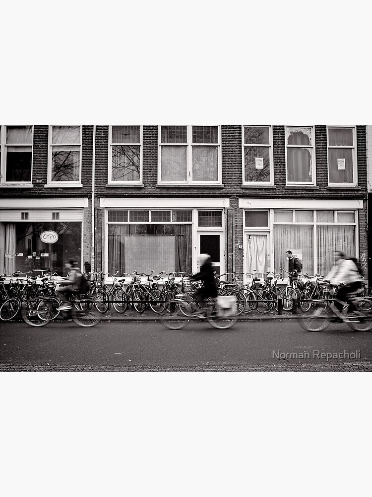 Bicycling in the fast lane, Utrecht, The Netherlands by keystone