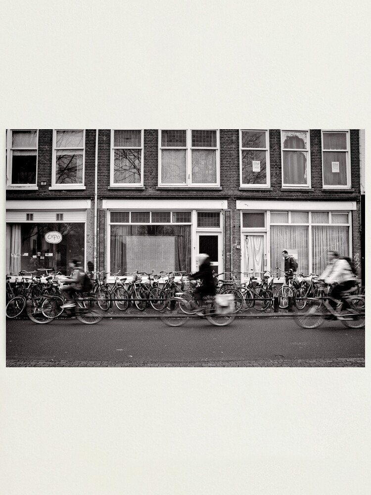 Alternate view of Bicycling in the fast lane, Utrecht, The Netherlands Photographic Print