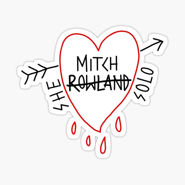 Mitch Rowland She Solo Bleeding Heart Sticker