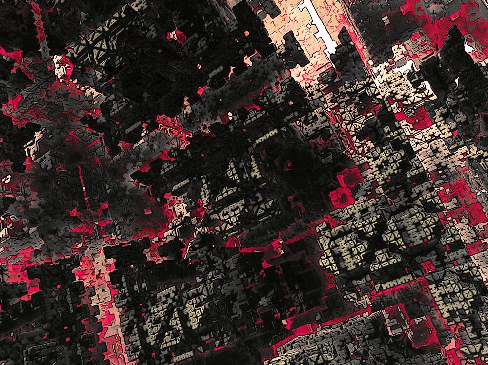 Dark-red city by glaktor