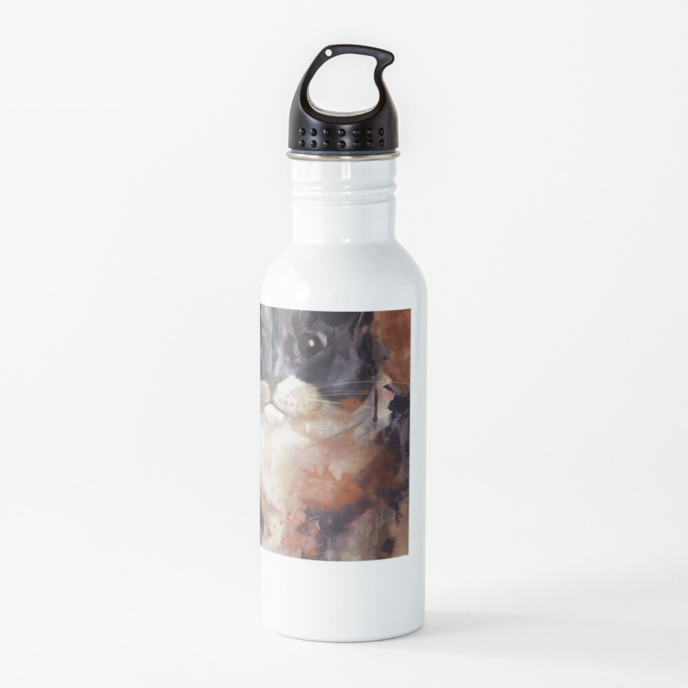 Baby the Grey and White Cat Water Bottle