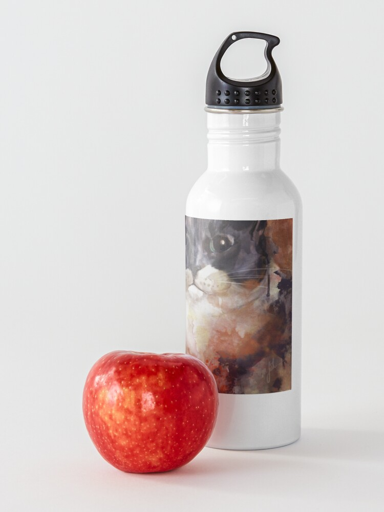 Alternate view of Baby the Grey and White Cat Water Bottle