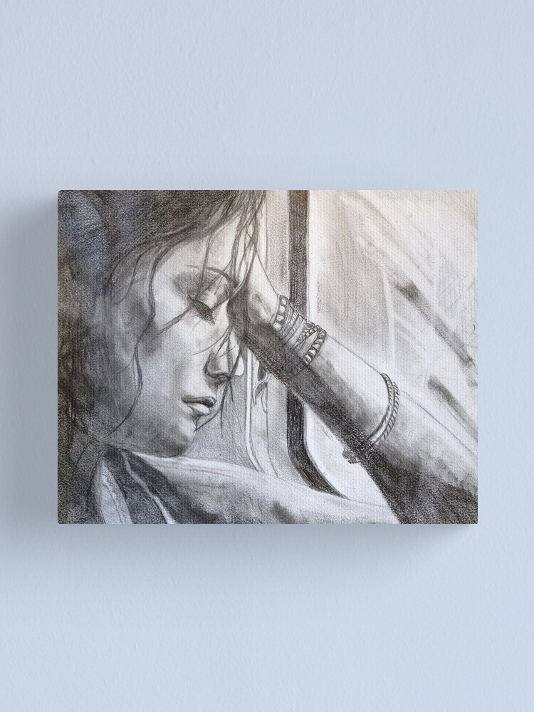 Alternate view of a long ride home - drawn Canvas Print