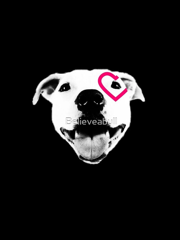 Heart over eye Pittie by Believeabull