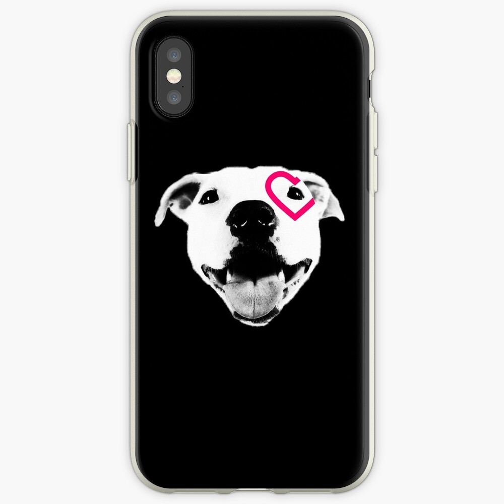 Heart over eye Pittie iPhone Case & Cover