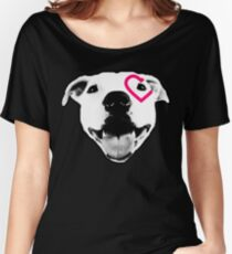 Heart over eye Pittie Women's Relaxed Fit T-Shirt