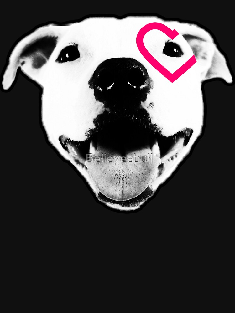 Heart over eye Pittie by Believeabull