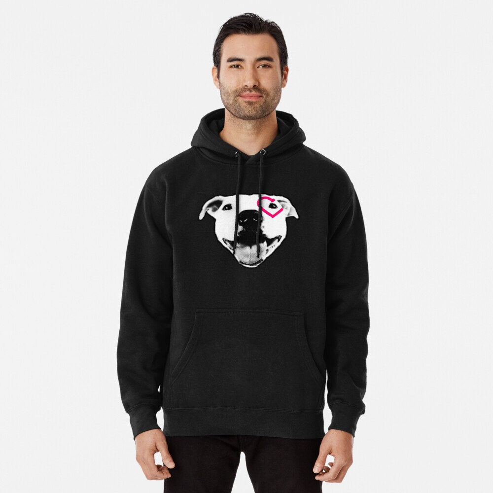 Heart over eye Pittie Pullover Hoodie