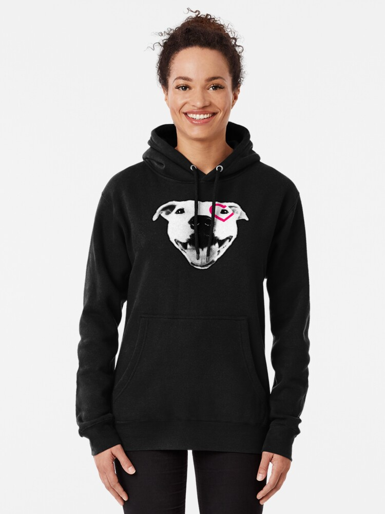 Alternate view of Heart over eye Pittie Pullover Hoodie