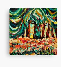 Tree and Wall in red Canvas Print