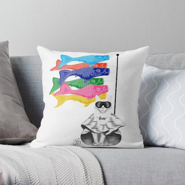 Boss Babe Windsock Fish Throw Pillow