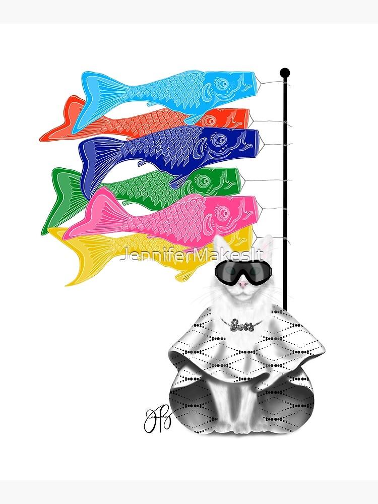 Boss Babe Windsock Fish by JenniferMakesIt