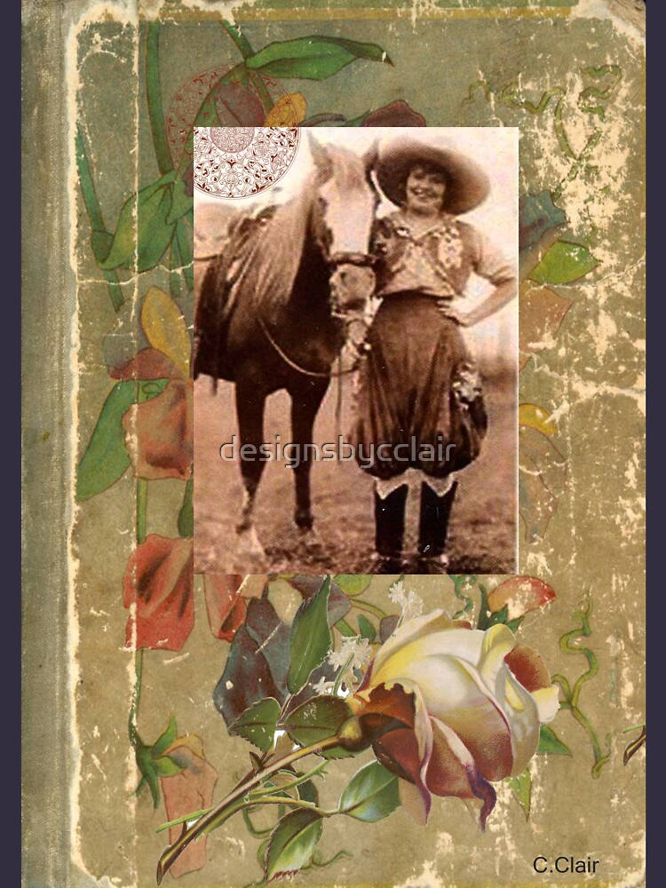 Vintage Cowgirl Horse Antique Book Rose by designsbycclair