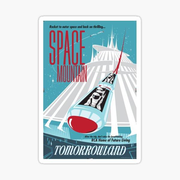 space mountain sticker Sticker