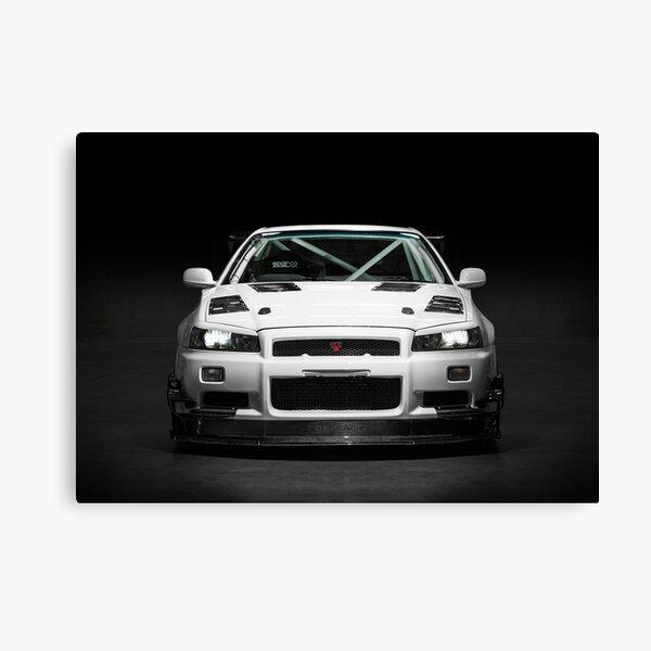 Mat Wootten's Nissan Skyline R34 GTT Canvas Print