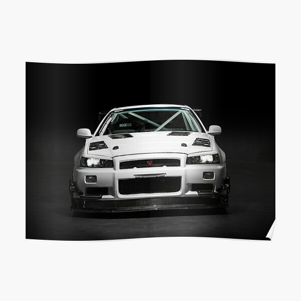 Mat Wootten's Nissan Skyline R34 GTT Poster
