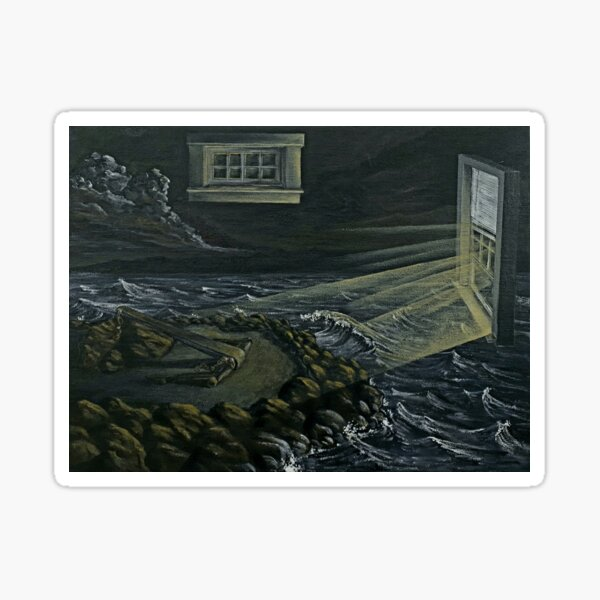 Surreal Seascape with Windows Sticker