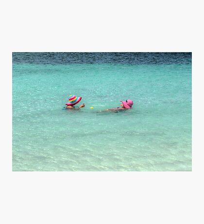 Enjoying the warm water in The Bahamas Photographic Print