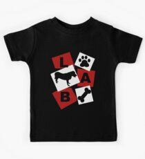 Camiseta para niños Labrador negro.