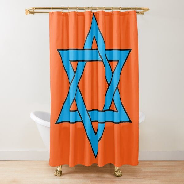 Jewish,  #Star of #David #Clipart #StarOfDavid, Masks Shower Curtain