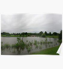 A slightly flooded Lisle Community Park Poster