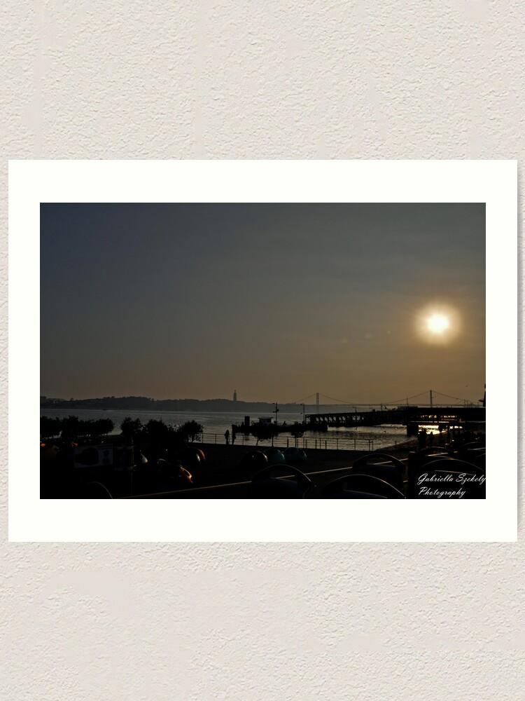 Alternate view of Sunset ove the bay Art Print